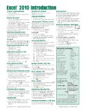 """Microsoft Excel 2010 Introduction Quick Reference Guide (Cheat Sheet of Instructions, Tips & Shortcuts โ€"""" Laminated Card) [Pamphlet]"""